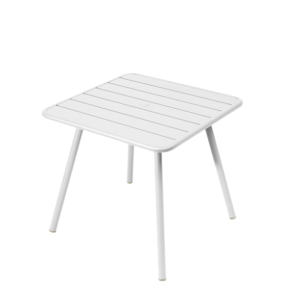 Fermob Luxembourg table, 80 x 80 cm, cotton white from Fermob
