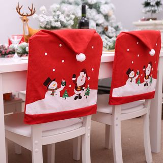 Christmas Chair Back Slipcover (various designs) Red - One Size from Fiesta