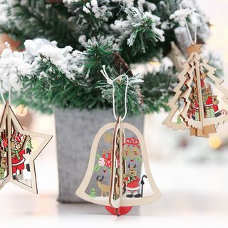 Christmas Cutout Wooden Hanging Ornament from Fiesta