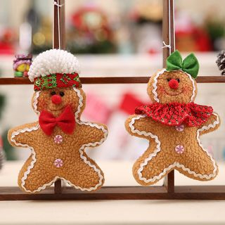 Christmas Fabric Gingerbread Hanging Ornament from Fiesta