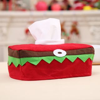 Christmas Fabric Tissue Cover Red & Green - One Size from Fiesta