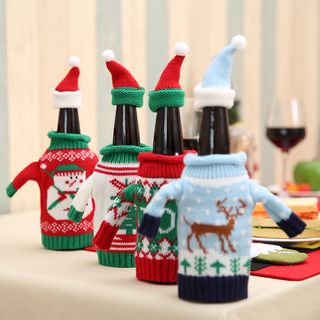 Christmas Knit Wine Bottle Cover (various designs) from Fiesta