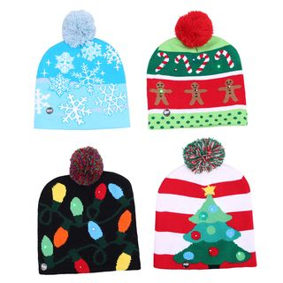Christmas LED Beanie (various designs) from Fiesta