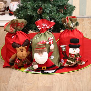 Christmas Linen Gift Bag (various designs) from Fiesta