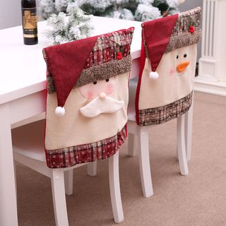 Christmas Santa / Snowman Chair Slipcover from Fiesta