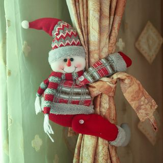 Christmas Santa Magnetic Curtain Tiebacks from Fiesta