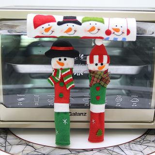Christmas Snowman Fabric Oven Door Handle Cover from Fiesta