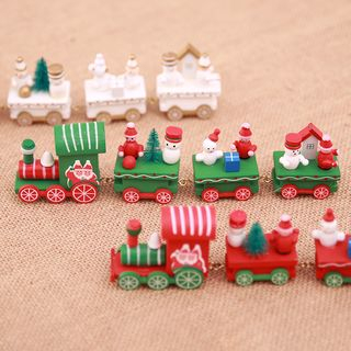 Christmas Wooden Train Desk Ornament from Fiesta