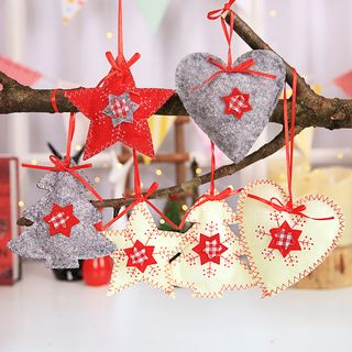 Set of 3: Christmas Fabric Hanging Ornament (various designs) from Fiesta