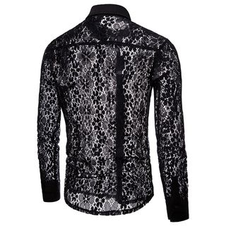 Lace Long-Sleeve Shirt from Fireon