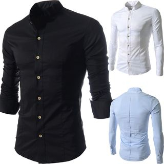 Plain Slim Fit Shirt from Fireon