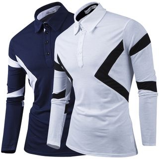 Printed Long Sleeve Polo Shirt from Fireon