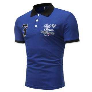 Short-Sleeve Embroidered Polo Shirt from Fireon