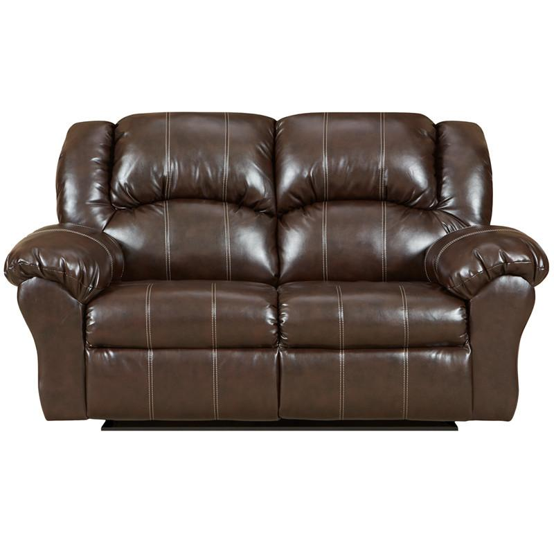 Flash Furniture 1002BRANDONBROWN-GG Exceptional Designs Brandon Brown Leather Reclining Loveseat from Flash Furniture