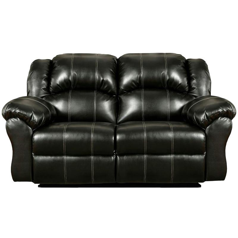 Flash Furniture 1002TAOSBLACK-GG Exceptional Designs Taos Black Leather Reclining Loveseat from Flash Furniture
