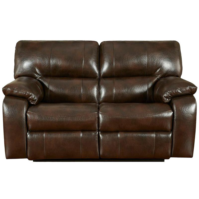Flash Furniture 1302CANYONCHOCOLATE-GG Exceptional Designs Canyon Chocolate Leather Reclining Loveseat from Flash Furniture