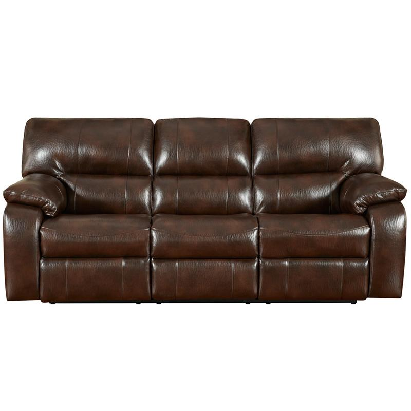 Flash Furniture 1303CANYONCHOCOLATE-GG Exceptional Designs Canyon Chocolate Leather Reclining Sofa from Flash Furniture