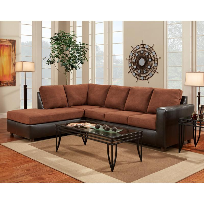Flash Furniture 3650SECARUBACHOCOLATE-GG Exceptional Designs Aruba Chocolate Microfiber L-Shaped Sectional from Flash Furniture