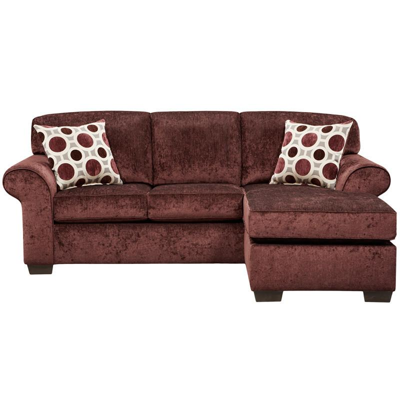 Flash Furniture 5303PRISMELDERBERRY-SOFCH-GG Exceptional Designs Prism Elderberry Microfiber Sofa Chaise from Flash Furniture