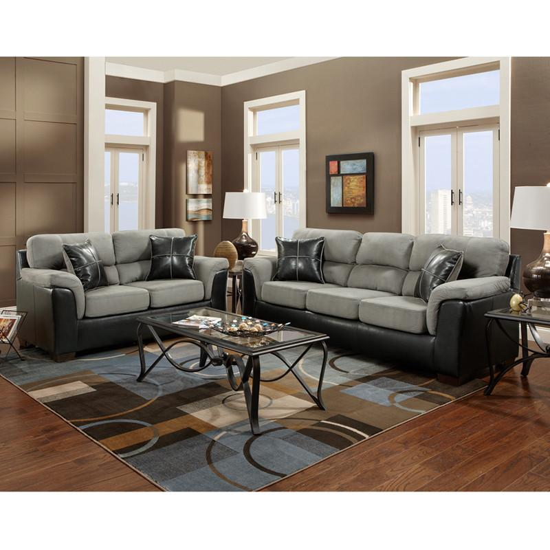 Flash Furniture 6000LAREDOGRAPHITE-SET-GG Exceptional Designs Living Room Set in Laredo Graphite Microfiber from Flash Furniture