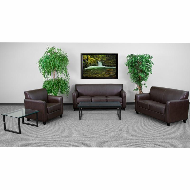 Flash Furniture BT-827-SET-BN-GG HERCULES Diplomat Series Reception Set in Brown from Flash Furniture