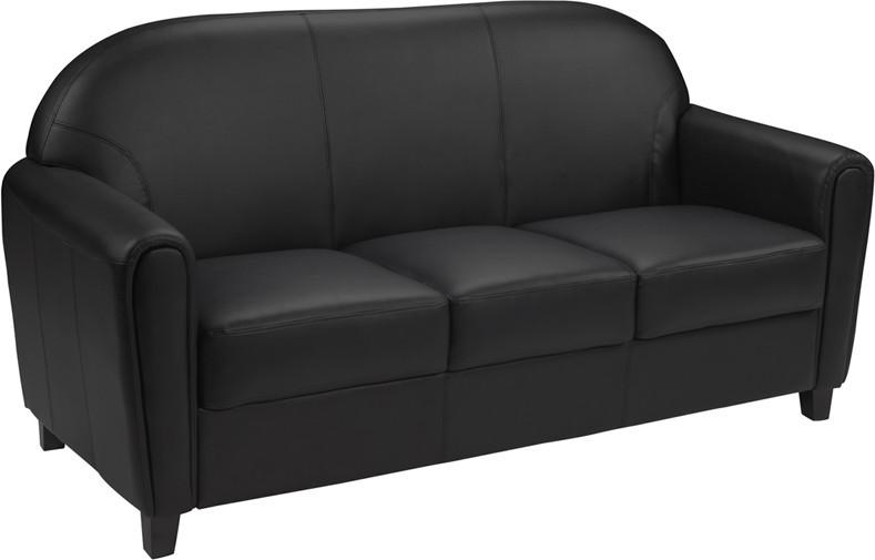 Flash Furniture BT-828-3-BK-GG HERCULES Envoy Series Black Leather Sofa from Flash Furniture