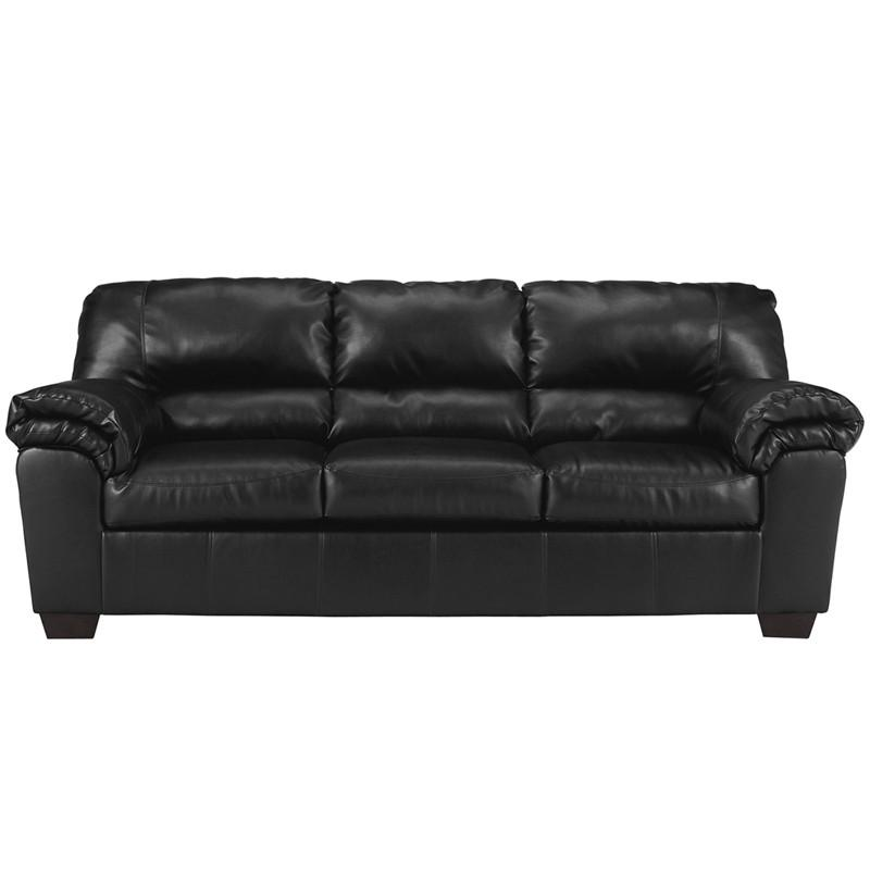 Flash Furniture FSD-2129SO-BLK-GG Signature Design by Ashley Commando Sofa in Black Leather from Flash Furniture