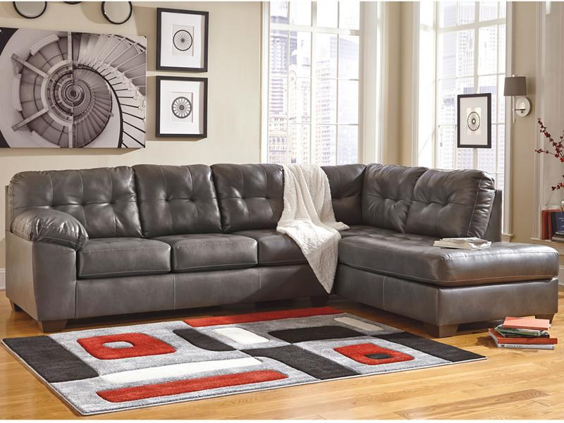 Flash Furniture FSD-2399RFSEC-GRY-GG Signature Design by Ashley Alliston Sectional with Right Side Facing Chaise in Gray DuraBlend from Flash Furniture