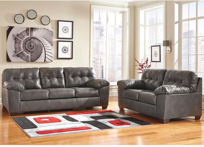 Flash Furniture FSD-2399SET-GRY-GG Signature Design by Ashley Alliston Living Room Set in Gray DuraBlend from Flash Furniture