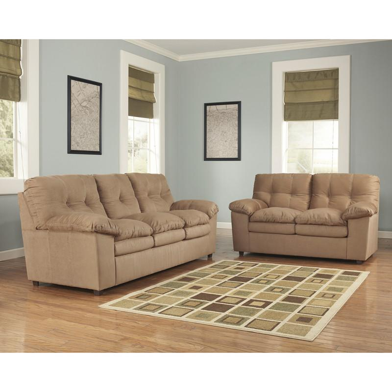 Flash Furniture FSD-7199SET-MOC-GG Signature Design by Ashley Mercer Living Room Set in Mocha Fabric from Flash Furniture