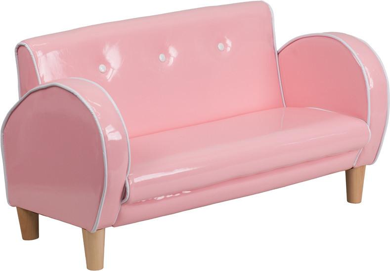 Flash Furniture HR-13-PINK-GG Kids Pink Loveseat from Flash Furniture