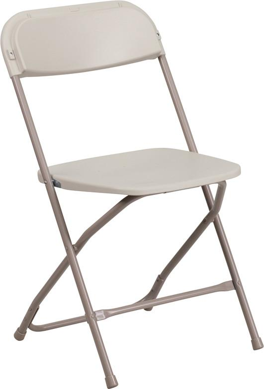 Flash Furniture LE-L-3-BEIGE-GG HERCULES Series 800 lb. Capacity Premium Beige Plastic Folding Chair from Flash Furniture