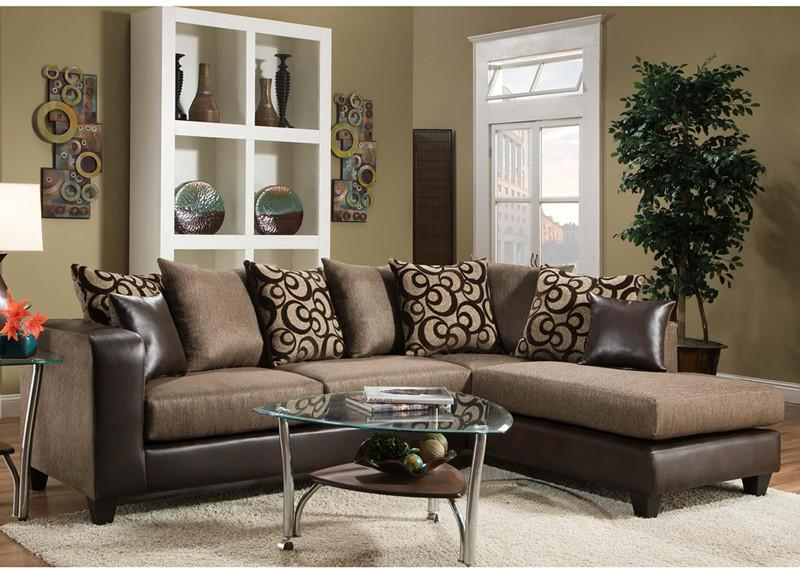 Flash Furniture RS-4124-01SEC-GG Riverstone Object Espresso Chenille Sectional from Flash Furniture