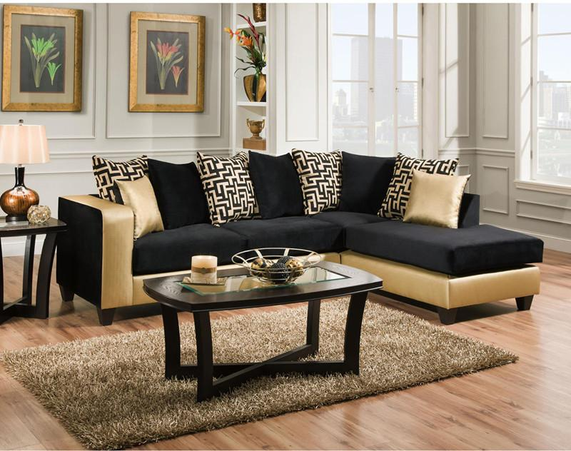 Flash Furniture RS-4124-07SEC-GG Riverstone Implosion Black Velvet Sectional from Flash Furniture