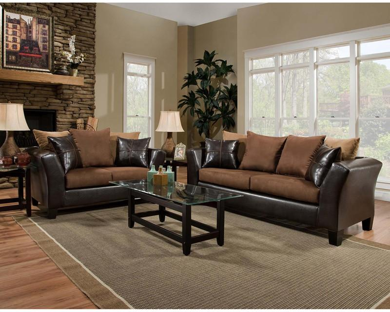 Flash Furniture RS-4170-01LS-SET-GG Riverstone Sierra Chocolate Microfiber Living Room Set from Flash Furniture