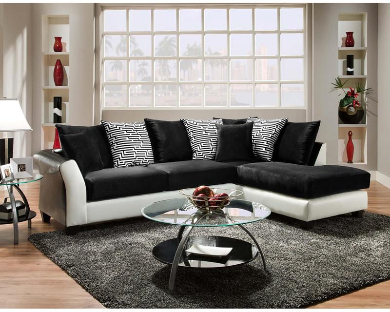 Flash Furniture RS-4174-02SEC-GG Riverstone Implosion Black Velvet Sectional from Flash Furniture
