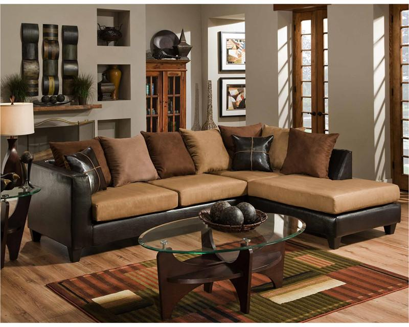 Flash Furniture RS-4184-01SEC-GG Riverstone Sierra Chocolate Microfiber Sectional from Flash Furniture