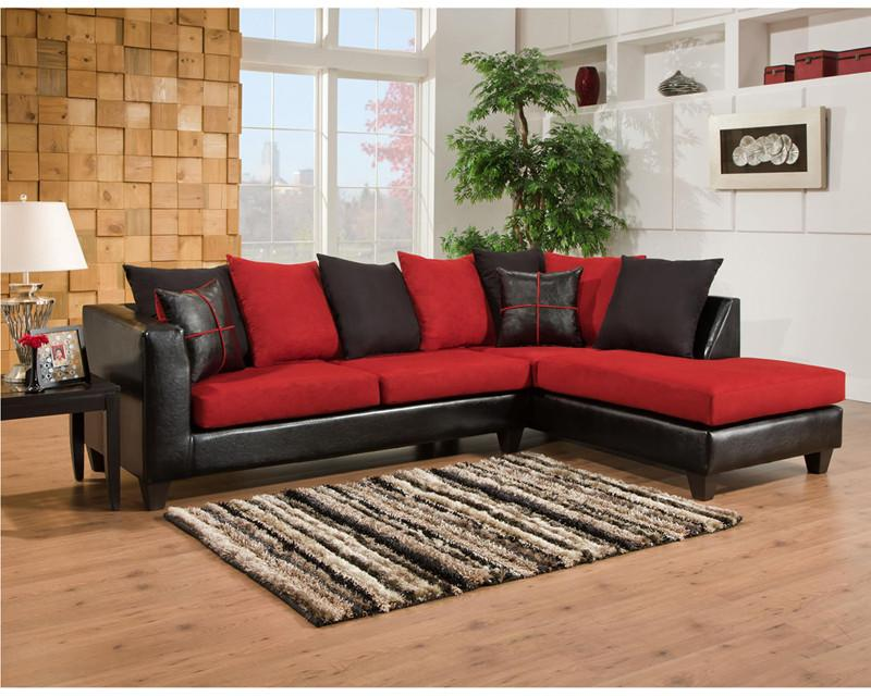 Flash Furniture RS-4184-04SEC-GG Riverstone Victory Lane Cardinal Microfiber Sectional from Flash Furniture