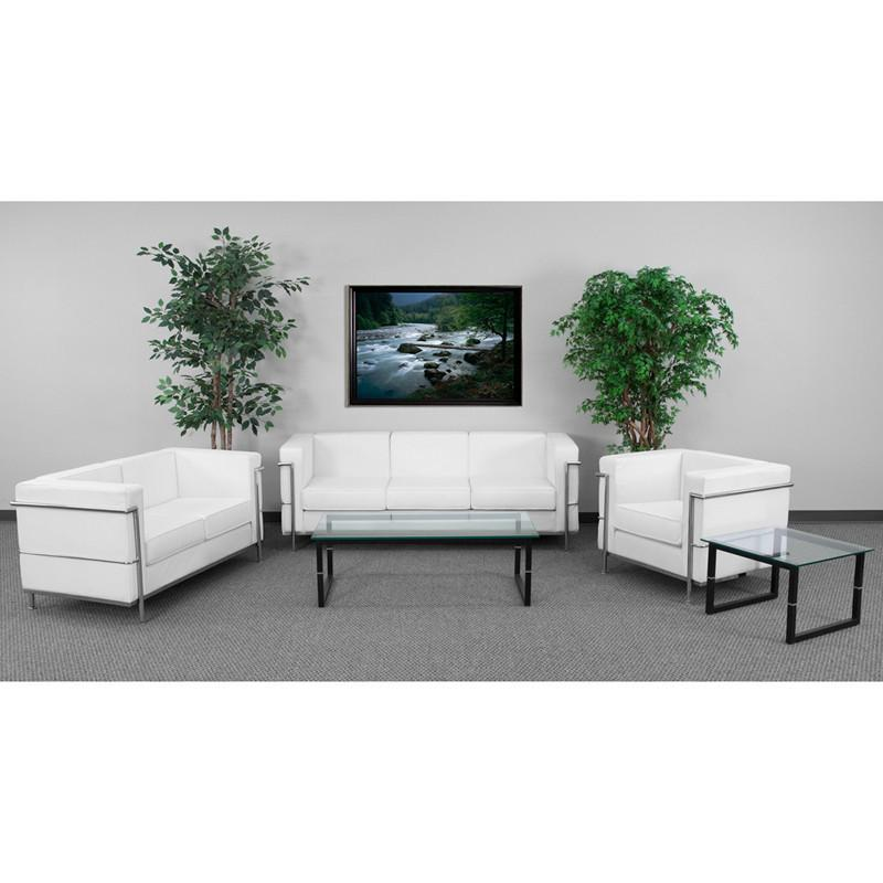 Flash Furniture ZB-REGAL-810-SET-WH-GG HERCULES Regal Series Reception Set in White from Flash Furniture