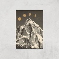 Moon Phases Giclee Art Print - A4 - Print Only from Florent Bodart