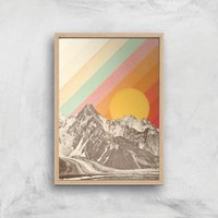 Mountainscape Giclee Art Print - A4 - Wooden Frame from Florent Bodart