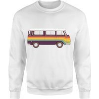 Rainbow Van Sweatshirt - White - M - White from Florent Bodart