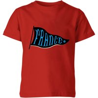 France Pennant Kids' T-Shirt - Red - 3-4 Years - Red from Football