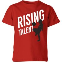 Rising Talent Kids' T-Shirt - Red - 5-6 Years - Red from The Football Collection