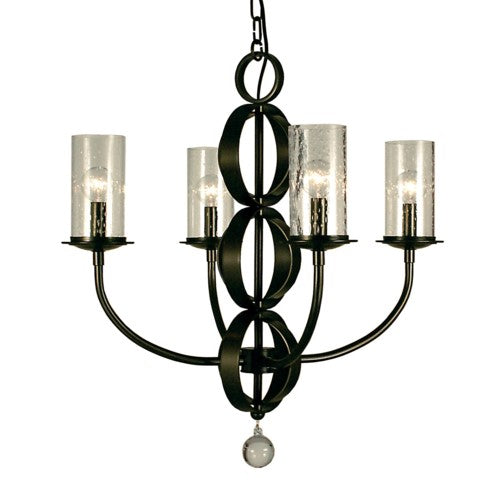 Framburg 1044-BN 4-Light Brushed Nickel Compass Dining Chandelier from Framburg