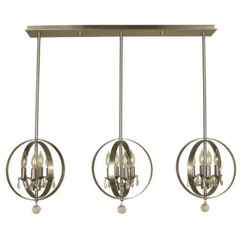 Framburg 1051-PN 12-Light Polished Nickel Constellation Island Chandelier from Framburg