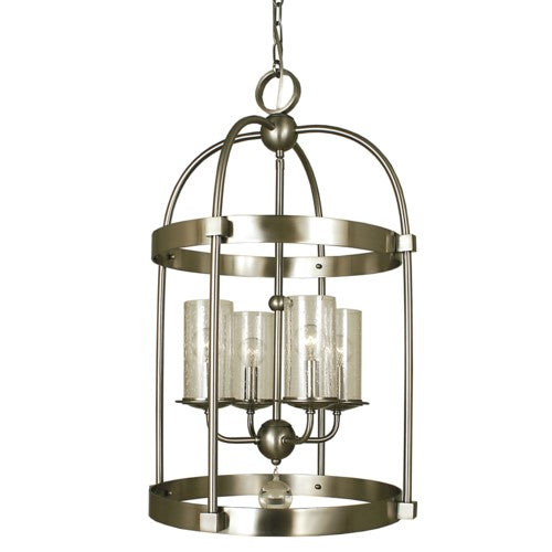 Framburg 1104-BN 4-Light Brushed Nickel Compass Dining Chandelier from Framburg