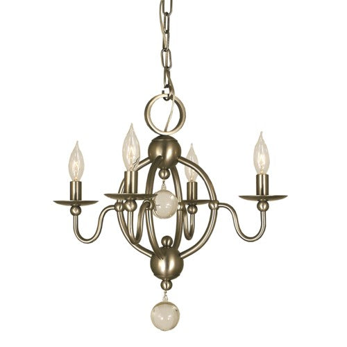 Framburg 1159-MB 4-Light Mahogany Bronze Quatrefoil Mini Chandelier from Framburg