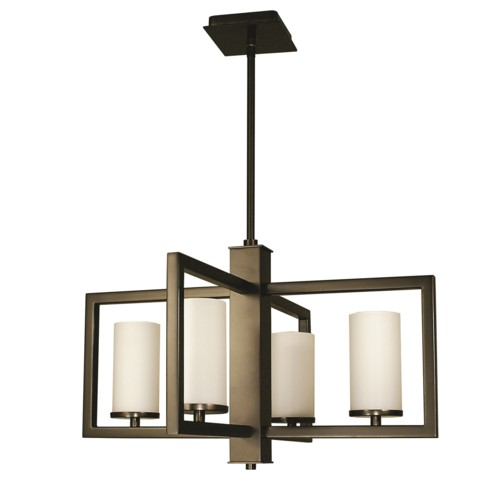 Framburg 1195-MBLACK 4-Light Matte Black Theorem Dining Chandelier from Framburg