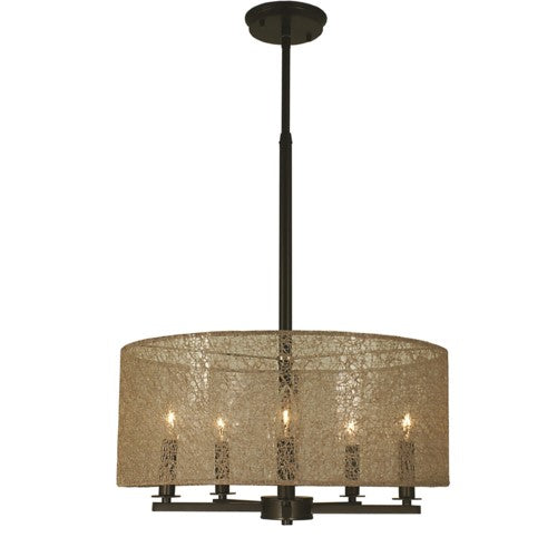 Framburg 1217-PN 5-Light Polished Nickel Chloe Dining Chandelier from Framburg